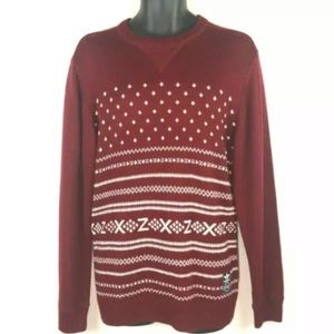 Adidas Mens M ZX pullover sweater Cardinal Red